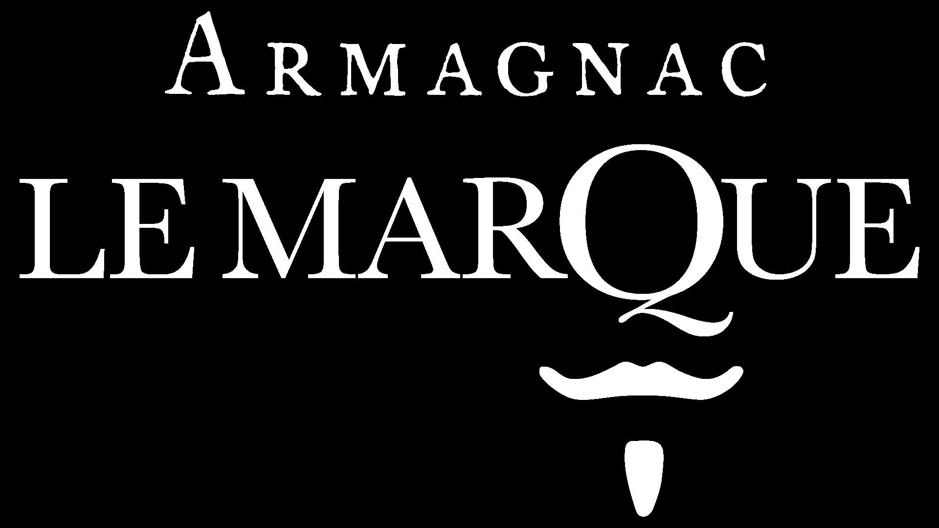 logo le marque armagnac blanc